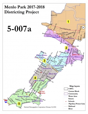 Menlo Park Map Menlo Park: committee selects favored election maps   News  Menlo Park Map