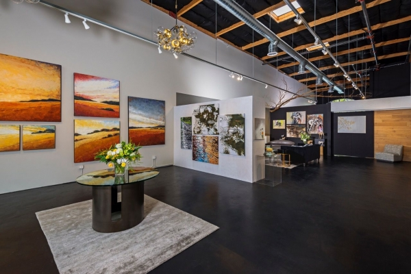 menlo park self made gallerist launches new art event space news